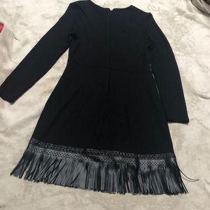 bebe Dresses - Bebe Fringed Black dress